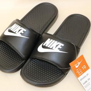 Nike Shoes - Nike Mens Black Slip On Sandals Flip Flops 10